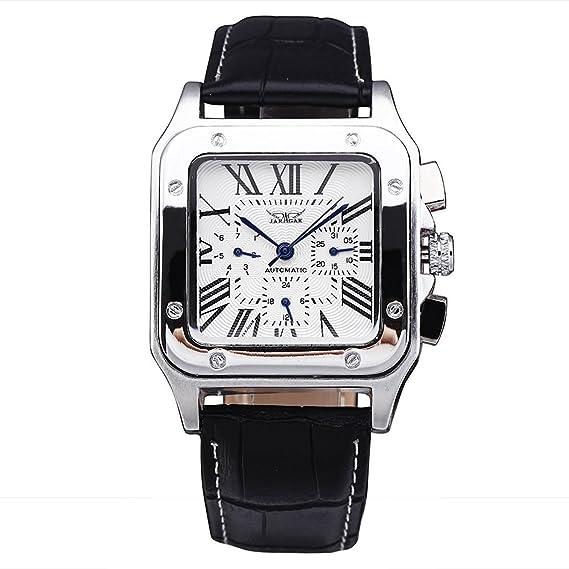 JARAGAR Relojes Hombres Militar automático de lujo del reloj mecánico multifunción FECHA sub-Dial de