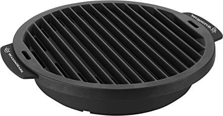 WaxonWare Nonstick Grill Pan For Stove Top – Smokeless BBQ Griddle Grilling Pan For Steak, Fish, Chicken Vegetables 12 Inches, Black