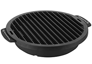WaxonWare Nonstick Grill Pan For Stove Top - Smokeless Korean BBQ Griddle Grill Pan Design For Steak, Fish, Chicken & Vegetables 12 Inches, Black