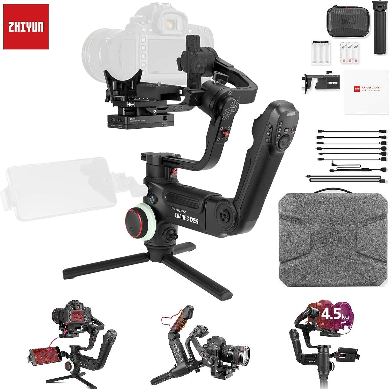 Zhiyun クレーン 3 LAB 3-Aixs ジンバルスタビライザー デジタル一眼レフカメラ用 タッチコントロール 万能構造 モーションラプス 画像トランスミッション すべて含むコントロールパネル 4.5kg ペイロード (標準パッケージ)   B07MDGM3NQ