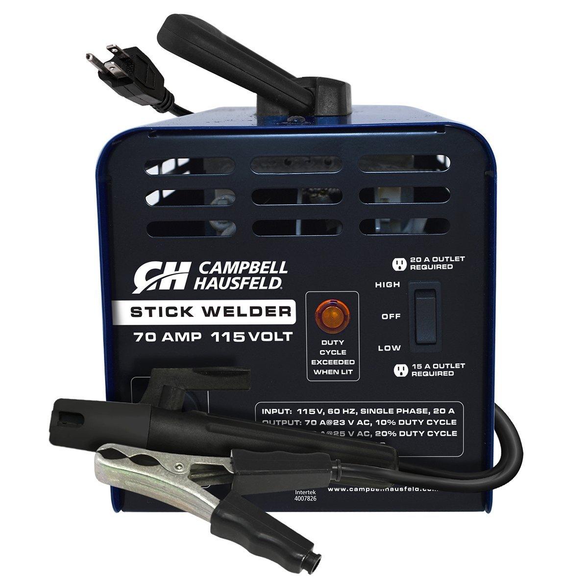 Arc Stick Welder, 115 Volt, 70 Amp (Campbell Hausfeld WS099001AV ...