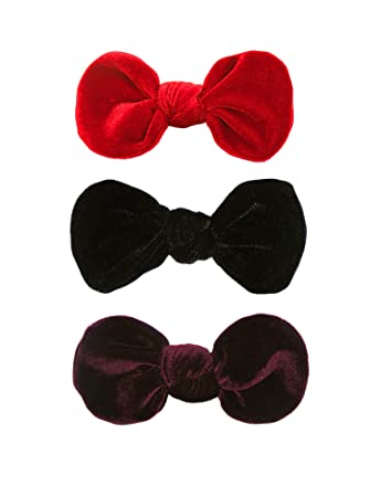 """Set of 2 4.5/"""" Satin Hair Bows with Hair Clip-Red,Pink,Baby Pink,Black,White,Gold"""