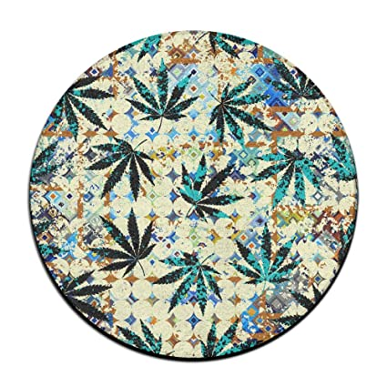 ZHYPMNU Skid Resistance Soft Rug Mats Rastafarian Grunge Weed Leaves Seat  Cushion (16 Inch)