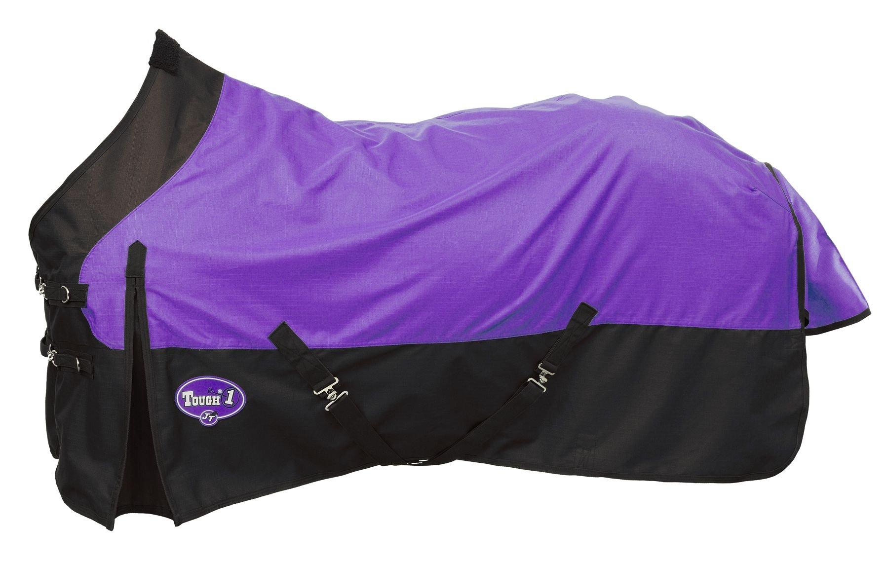 Tough 1 1200 Denier Water Repellent Horse Sheet, Purple, 78-Inch by Tough 1 (Image #1)