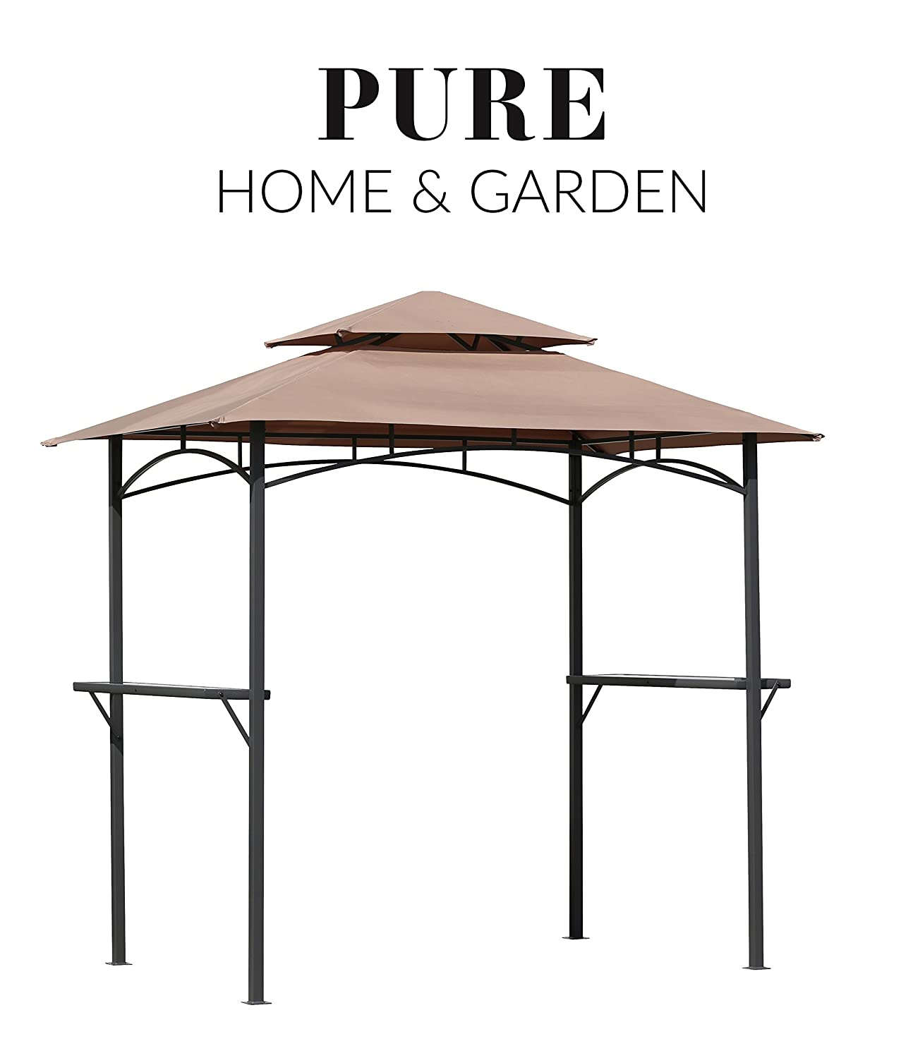 Extremely Pure Home & Garden Luxus Grill Pavillon Split 240x150 cm  LP91