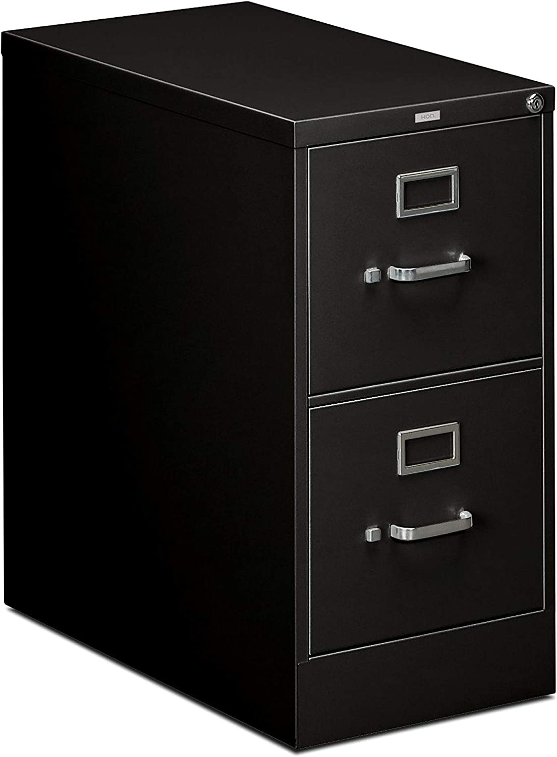 "HON 2-Drawer Office Filing Cabinet - 310 Series Full-Suspension Letter File Cabinet, 26.5""D, Black (H312)"