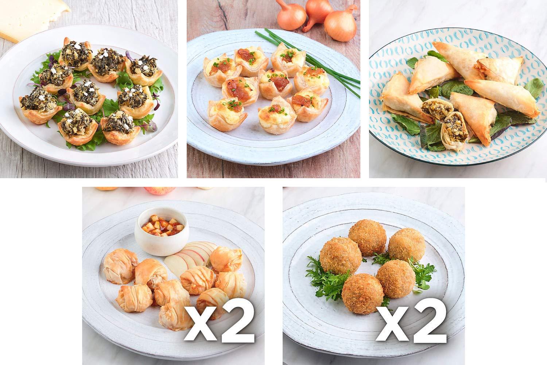 Babeth's Feast Vegetarian Appetizer Sampler - 7 pack of 5 different Vegetarian appetizers/Heat and Serve/No Preservatives