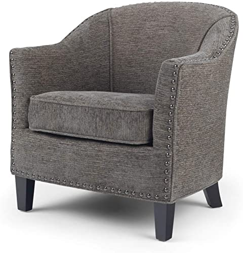 Simpli Home AXCTUB-004-GRT Kildare 29 inch Wide Transitional Tub Chair