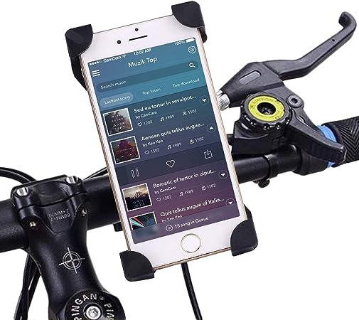 IBRA Bike Phone Mount - Negro Soportes teléfono móvil Soporte Universal para Bicicleta y Motocicleta para iPhone 7 6S 6 Plus 5s 5c, Galaxy S7 S6 S5 S4 S3,Nota,Nexus,Nokia, HTC Otros Smartphone
