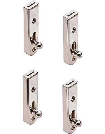 pour serrure de portail pour fen/être serrure /à verrou de porte 100 mm Ensemble de 10 loquets de porte NUZAMAS de 4 pouces en acier inoxydable cadenas de s/écurit/é /à boulon patin de glissi/ère