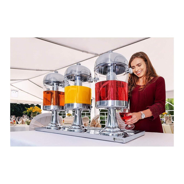 Royal Catering - RCSD-3 - Dispensador de bebidas frías 3 x 7 litros - Envío Gratuito: Amazon.es: Hogar