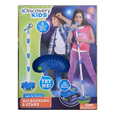 Discovery Kids Light-Up Musical Microphone and Stand: Toys & Games
