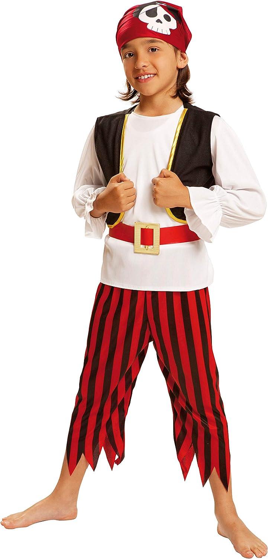 My Other Me - Disfraz de Pirata Calavera para niños, Talla 3-4 ...
