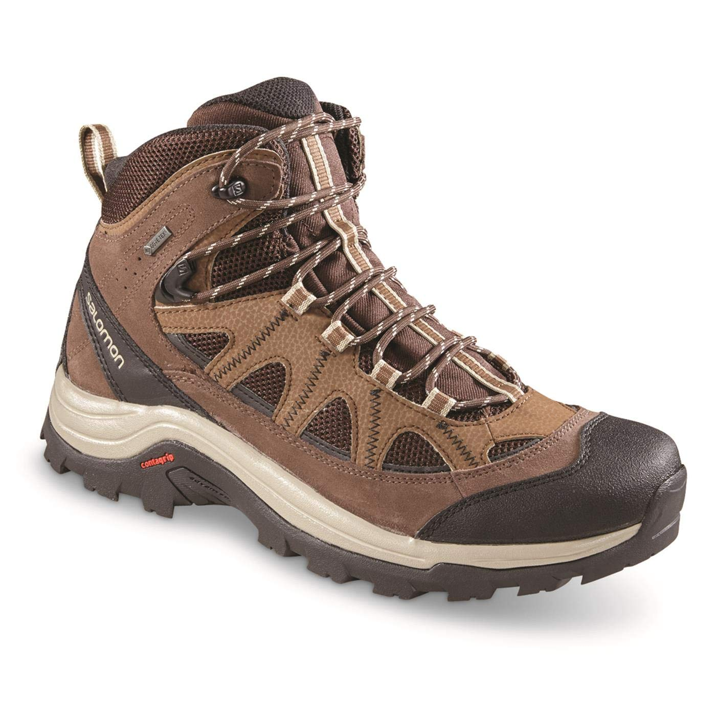 aafbe8b005ea Galleon - Salomon Authentic LTR GTX Boot - Men s Black Coffee Chocolate  Brown Vintage Kaki 12.5