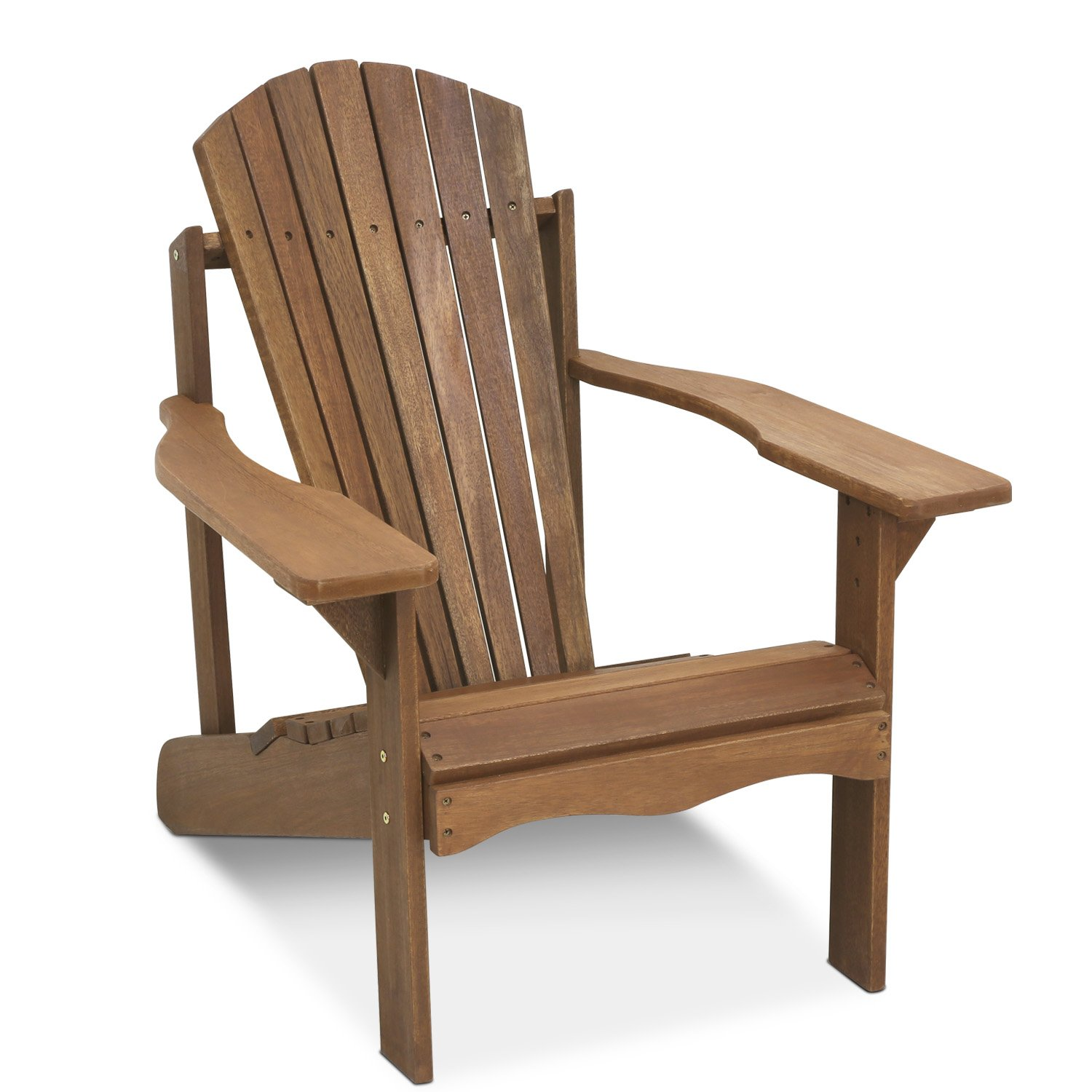 Amazon Furinno Tioman Hardwood Adirondack Patio Chair in