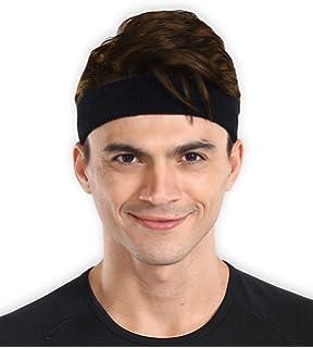 "/""N//A/"" Running Headband Sweatband Lycra Absorbent Sport Sweat Headband Elastic Sweatband for Men and Women Yoga Hair Bands Head Sweat Bands Gym Sports"