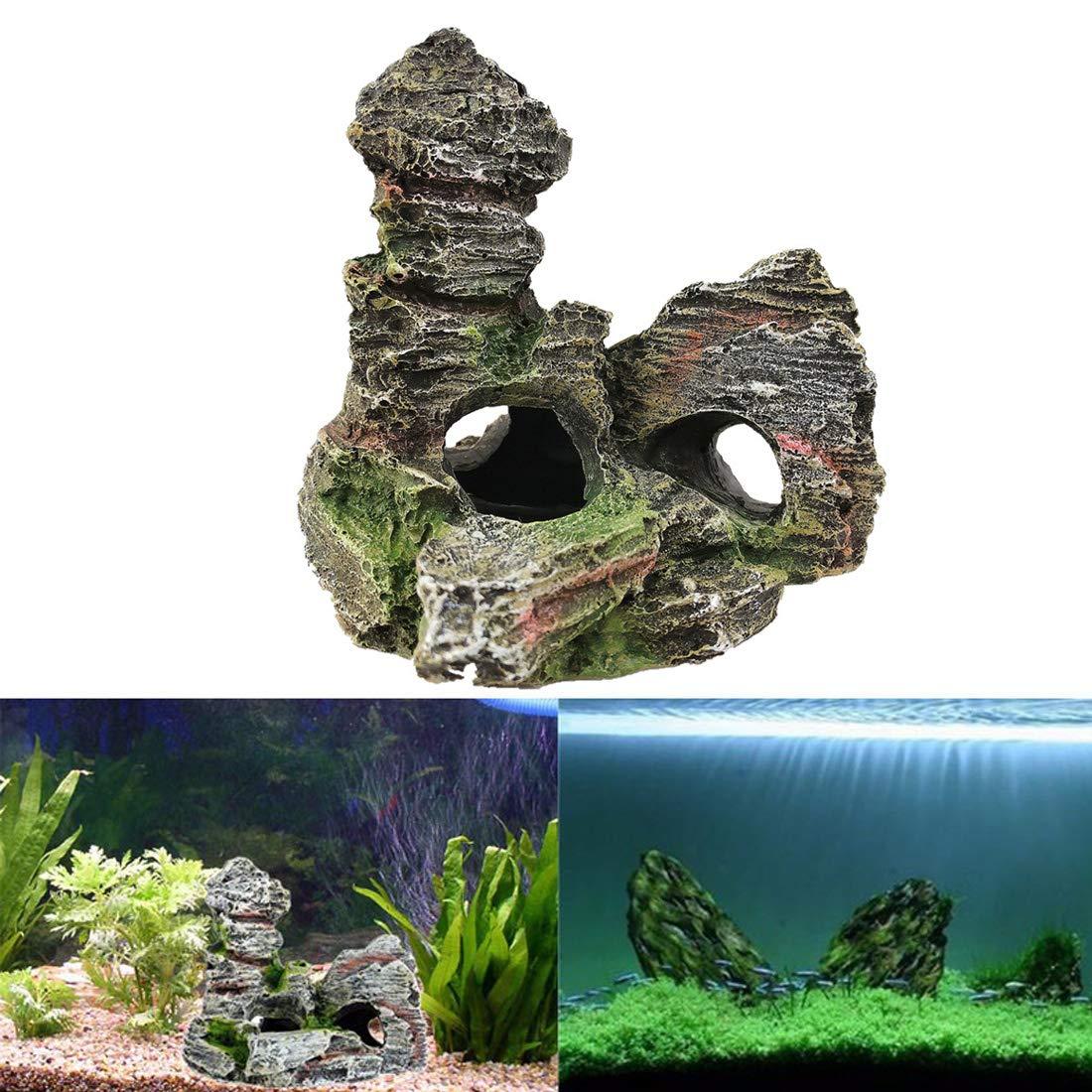 Roblue Deco Aquarium pour Poissons Aquarium Cachette en Résine Décoration Aquarium
