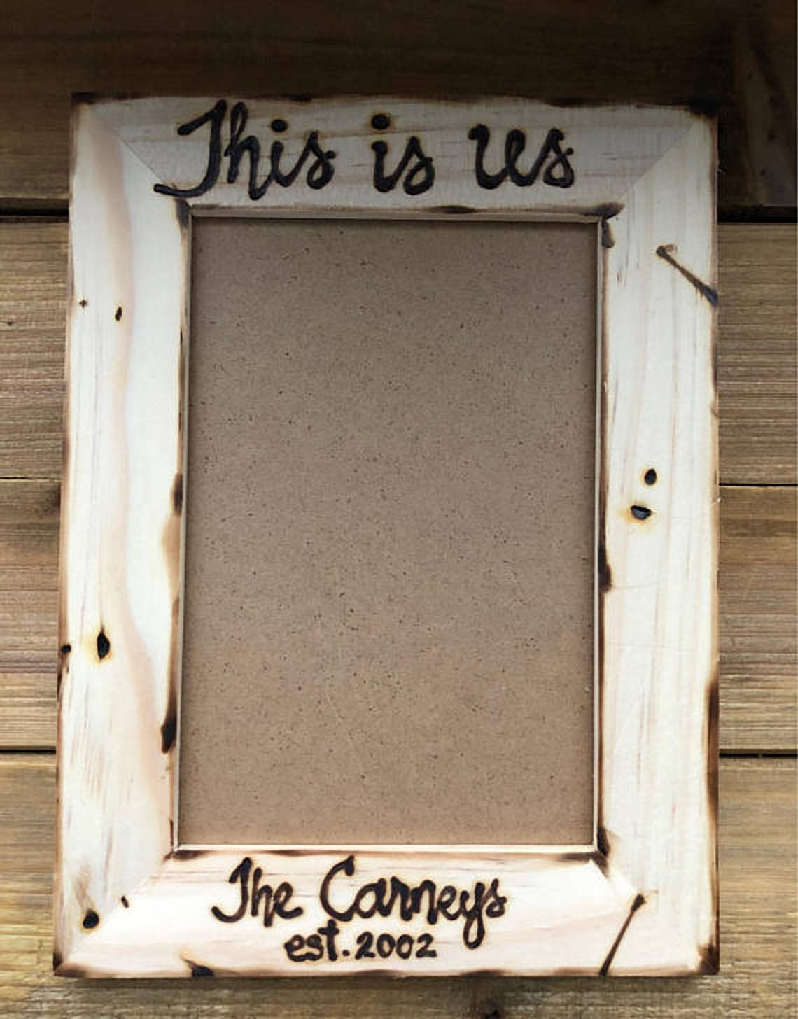 Amazoncom This Is Us Custom Family Wood Picture Frame Personalized