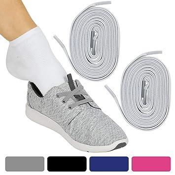 7e5ff12d7 Amazon.com: Vive Elastic Shoe Laces (Off-White Pair) - No Tie, Lace ...