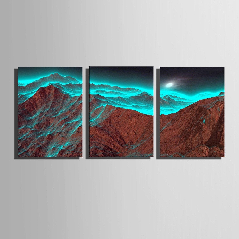 LTQ&QING new-Leinwand-Kunst Ruhige Gebirgslandschafts-Dekoration-Malerei, Frameless Malerei, 50703 B07CSJN24Y      New Product 2019  f67541