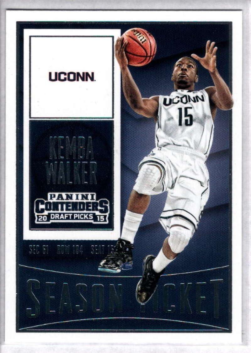 2015-16 Contenders Draft Picks Season Ticket Basketball #54 Kemba Walker UConn Huskies Official NCAA Trading Card made by Panini