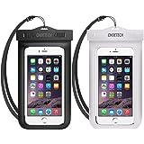 CHOETECH WPC007-A Universal Waterproof Case, 2Pack Clear Transparent Cellphone Waterproof