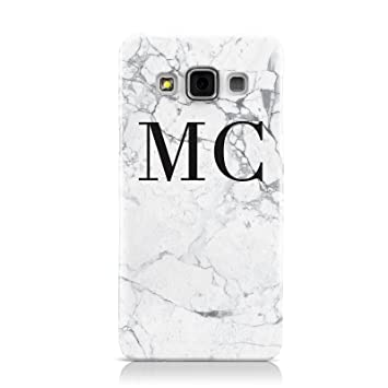 7d60bfe5ca PERSONALISED MARBLE INITIALS HARD PHONE CASE COVER FOR SAMSUNG GALAXY A3  A300F