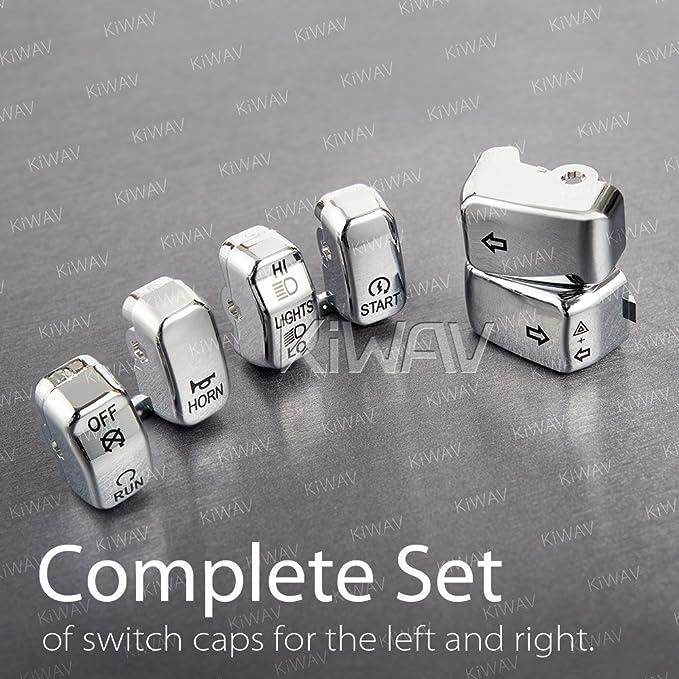 OEM# 71804-03 Chrome Switch Cap Kit For Harley-Davidson 1996-2013 repl