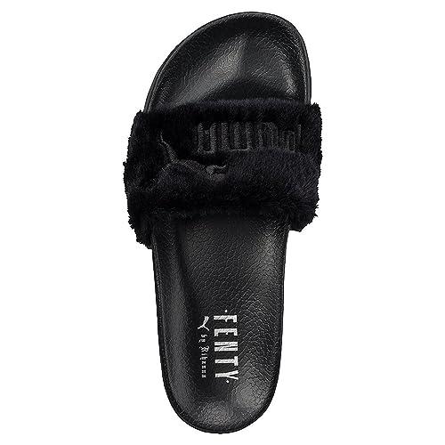Puma X Rihanna Fenty Leadcat Fur Slide Women s Sandals Black (UK 7   EU 40 8629463cdf