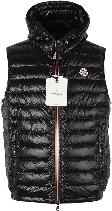 08826838e3f3 Moncler CL Black Gien Hooded Shell Gilet Vest Size 2   M   48   38R ...