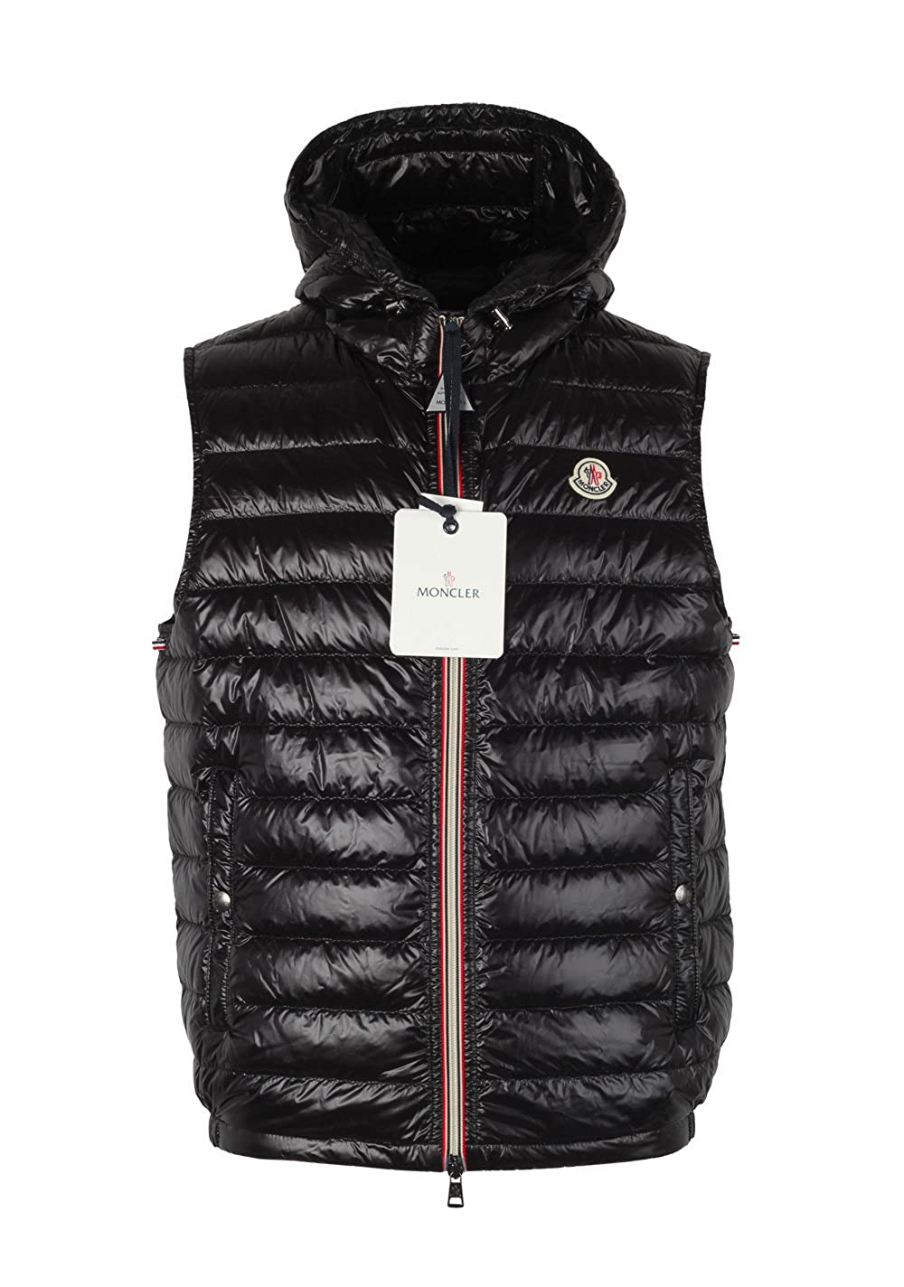 fe988ab2f8696 Moncler CL Black Gien Hooded Shell Gilet Vest Size 3   M   50 40 U.S. at  Amazon Men s Clothing store