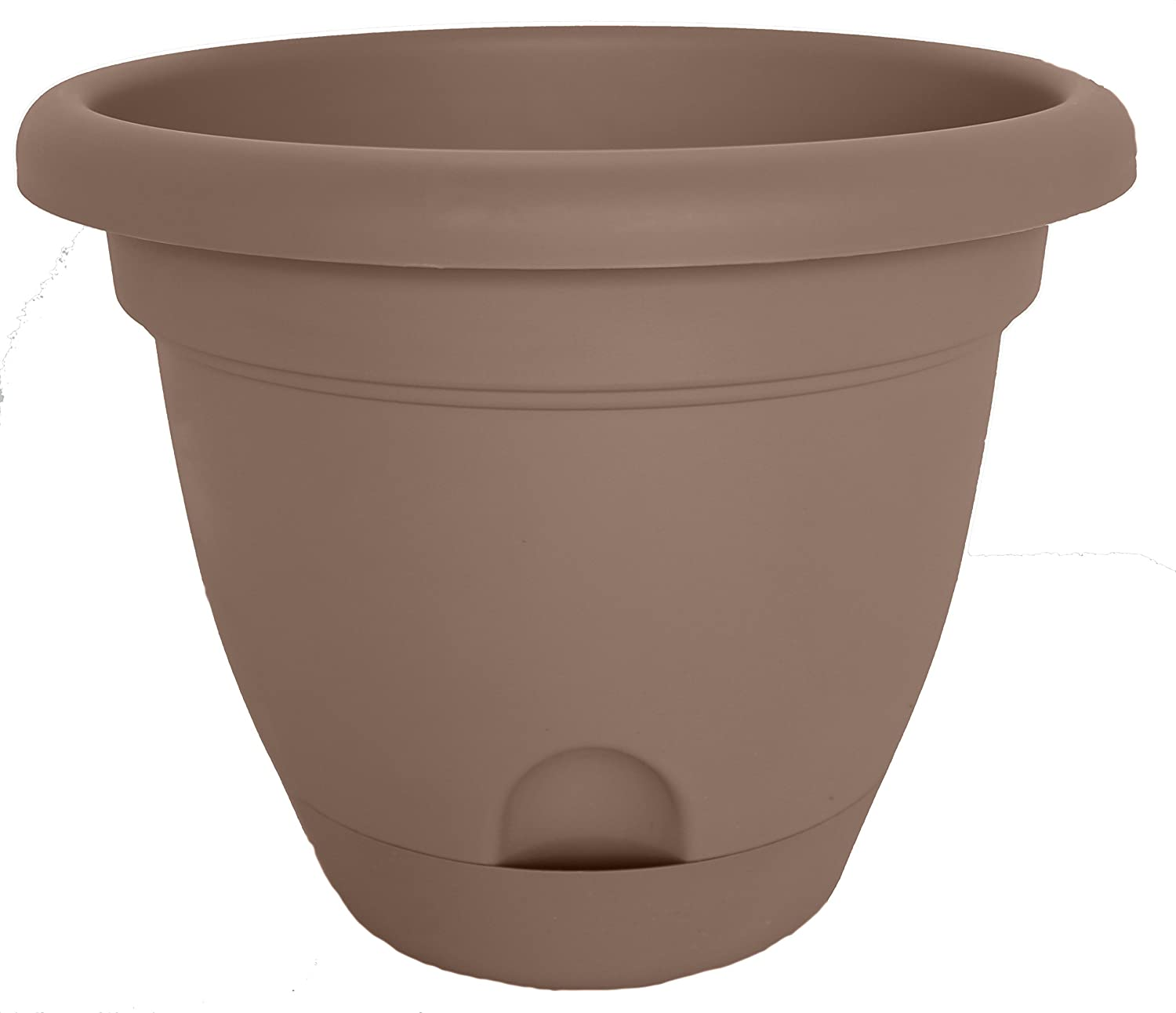 Bloem LP0818 Round Curated Plastic Lucca Planter, 8 , Curated