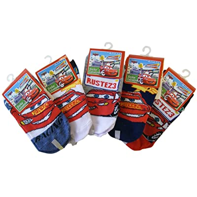 3 Piece Disney Cars Socks (Size 4-6) - Assorted Childrens Socks