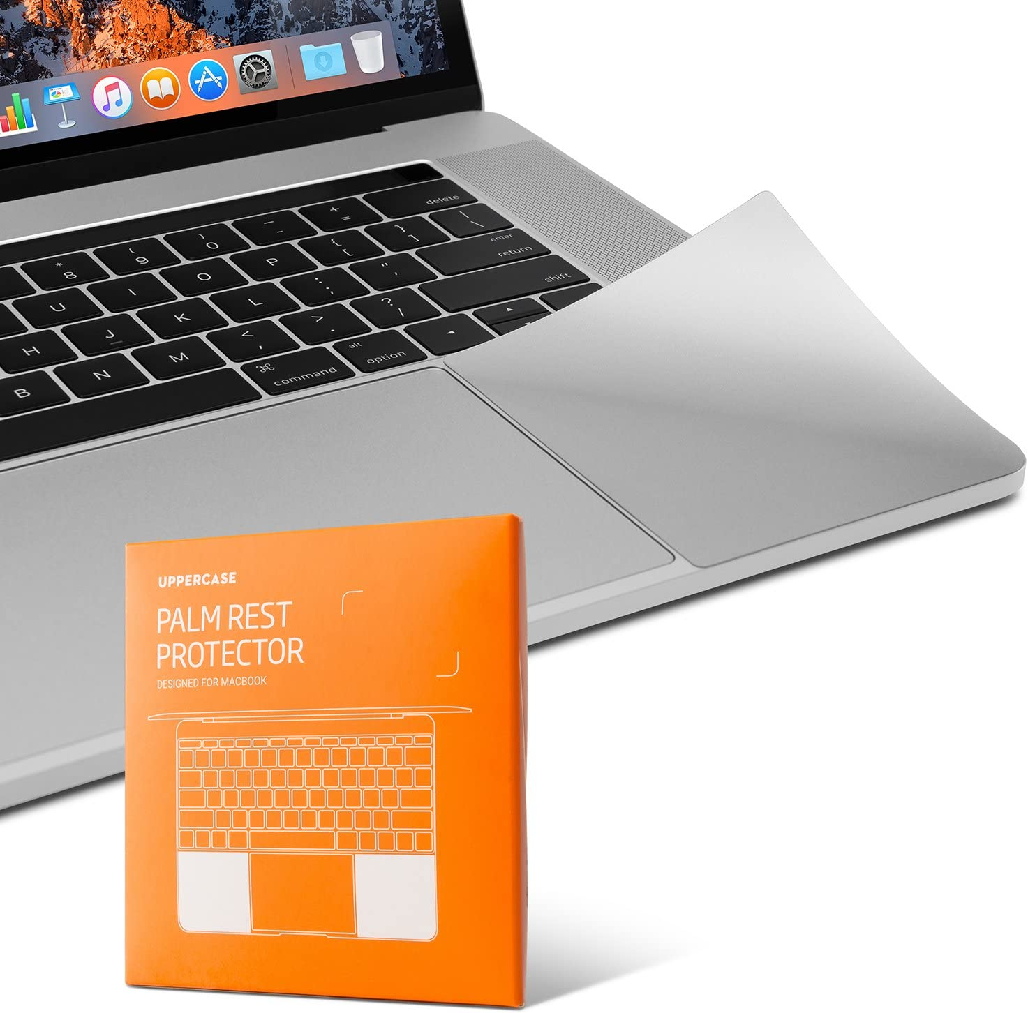 """UPPERCASE Premium Palm Rest Protector Skin Cover Set for MacBook Pro 15"""" 2016+ (MacBook Pro 15"""", Silver)"""