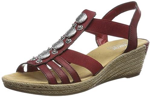 Rieker Damen 624b4 35 Geschlossene Sandalen