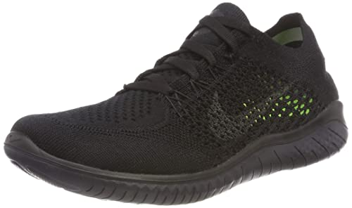 competitive price fd713 fadd3 Nike Women s Free Rn Flyknit 2018 Black Anthracite Running Shoe 5.5 Women US
