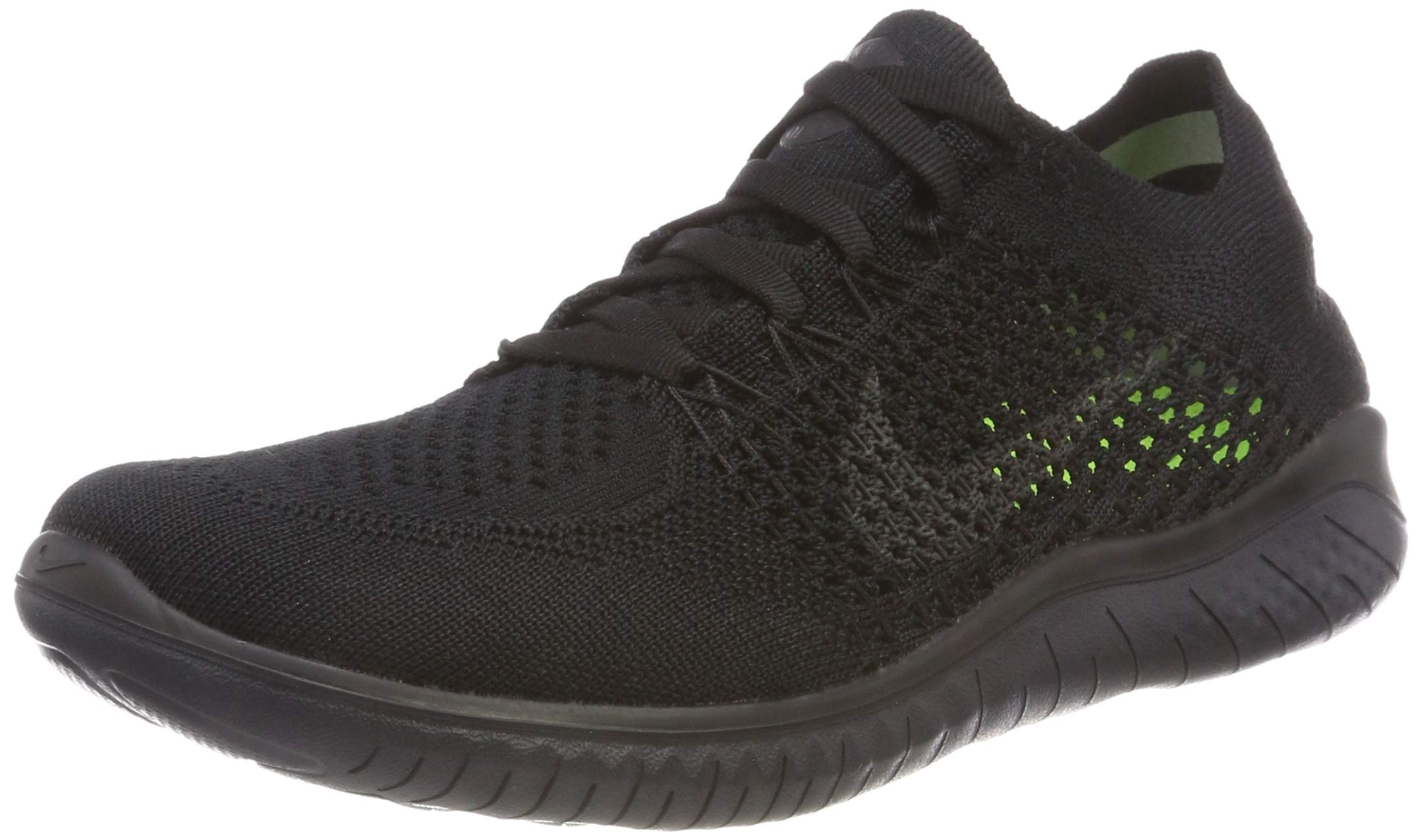 Nike Women's Free Rn Flyknit 2018 Running Shoe nk942839 002 (7.5 B(M) US) Black/Anthracite