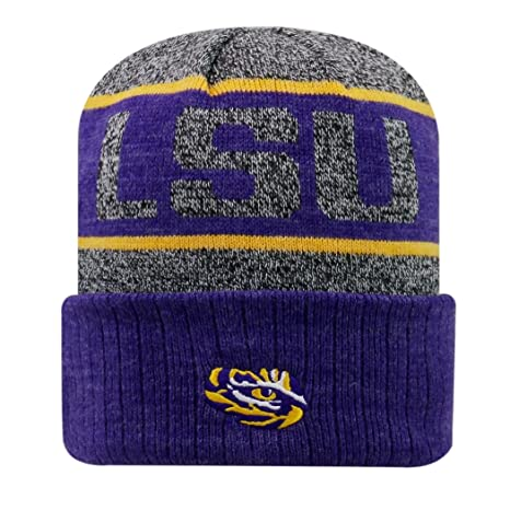 77bcb0aa7bc ... coupon for amazon lsu tigers ncaa top of the world below zero 2 cuffed  knit hat