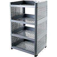 MRP International Plastic Multicolour Book Storage Display Rack Shelf (Multicolour)