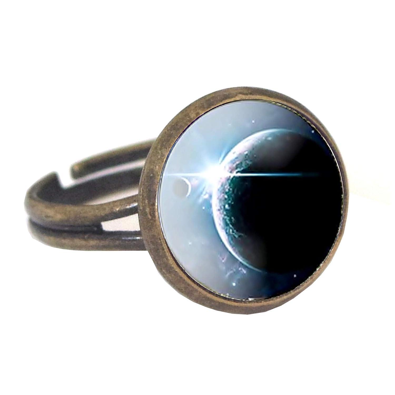 Inception Pro Infinite Bagues Cabochon - Redimensionnables - Univers - Planètes - Etoiles - Galaxy 793596116889