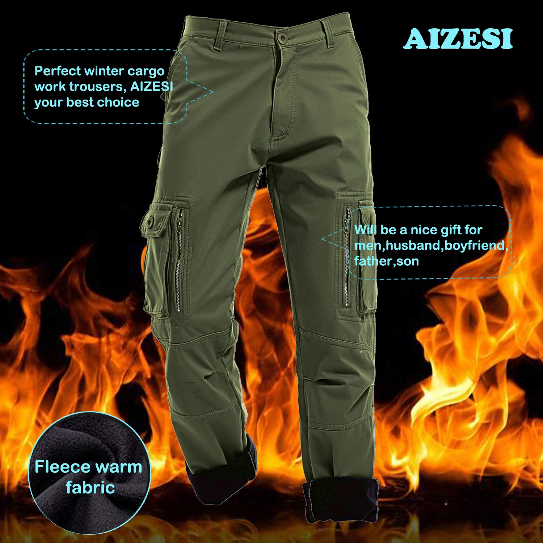 Pantalones de forro polar AIZESI, para hombre, para el invierno: Amazon.es: Deportes y aire libre