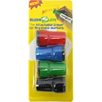 Kleenslate Concepts Llc. Kleenslate Attachable Erasers For Large Barrel Dry Erase Markers Whiteboard Accessories