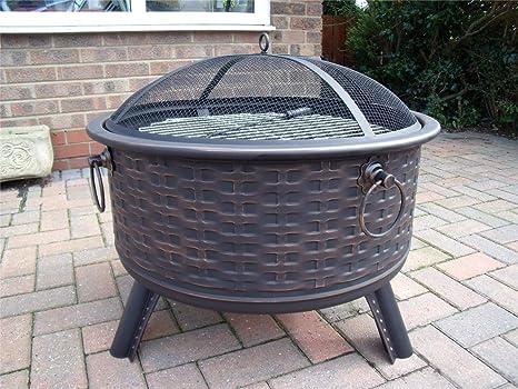 Hoguera de muebles de ratán estilo terrazas calefactor Metal Estufa brasero para barbacoa barbacoa mesa B