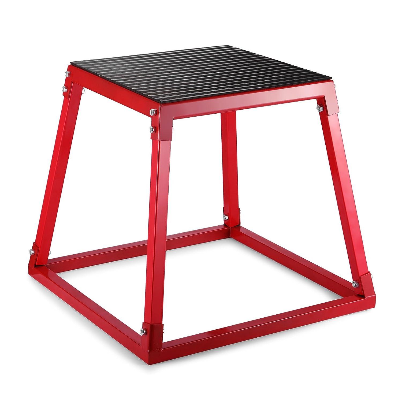 ShunLight Plyometric Platform Box Exercise Jump Boxes Fitness Height Step Boxes Training Set 12 18 24 Red