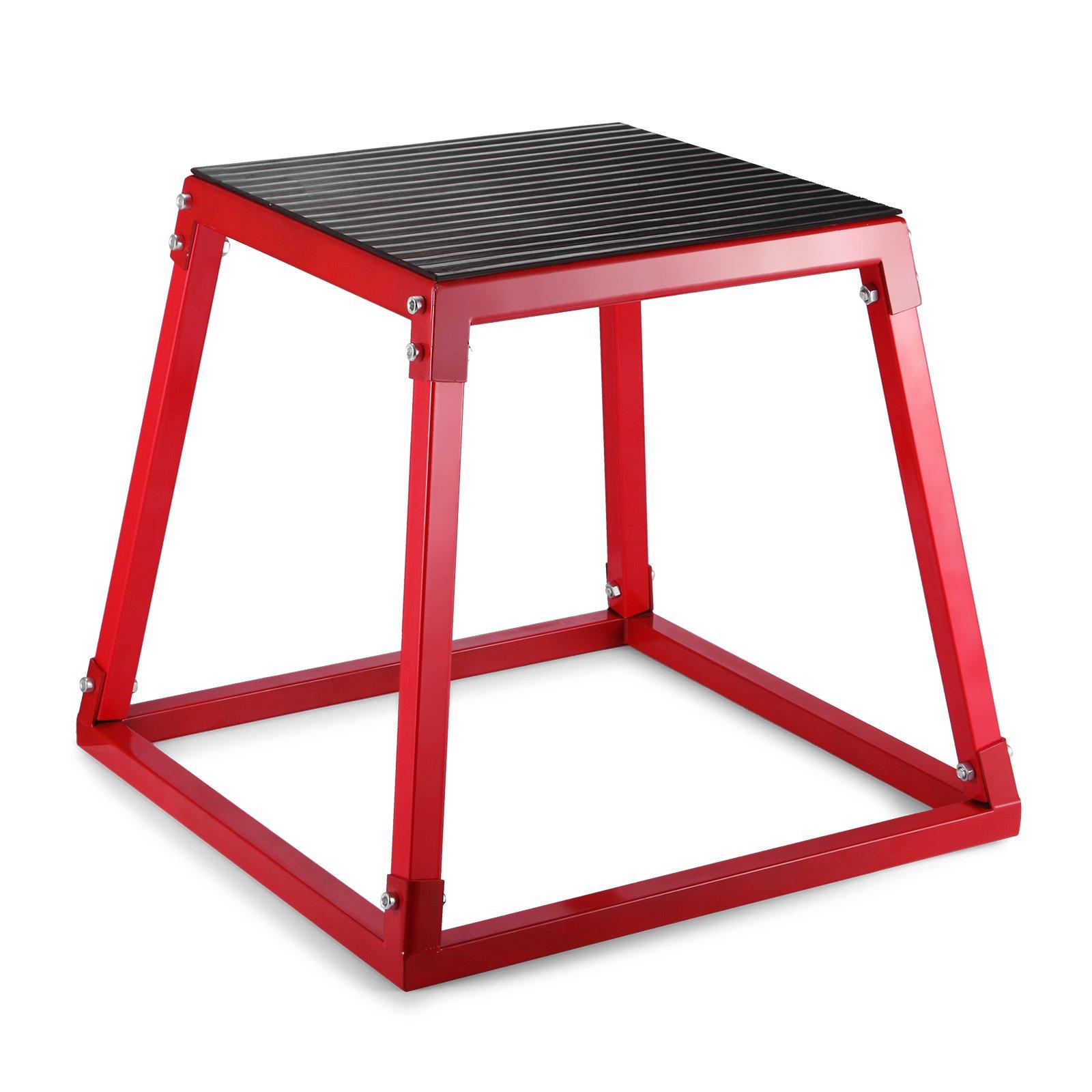 OrangeA Plyometric Boxes 12 Inch 18 Inch 24 Inch Plyometric Platform Jump Box Exercise Plyometric Jump Boxes for Jump Training (12 Inch)