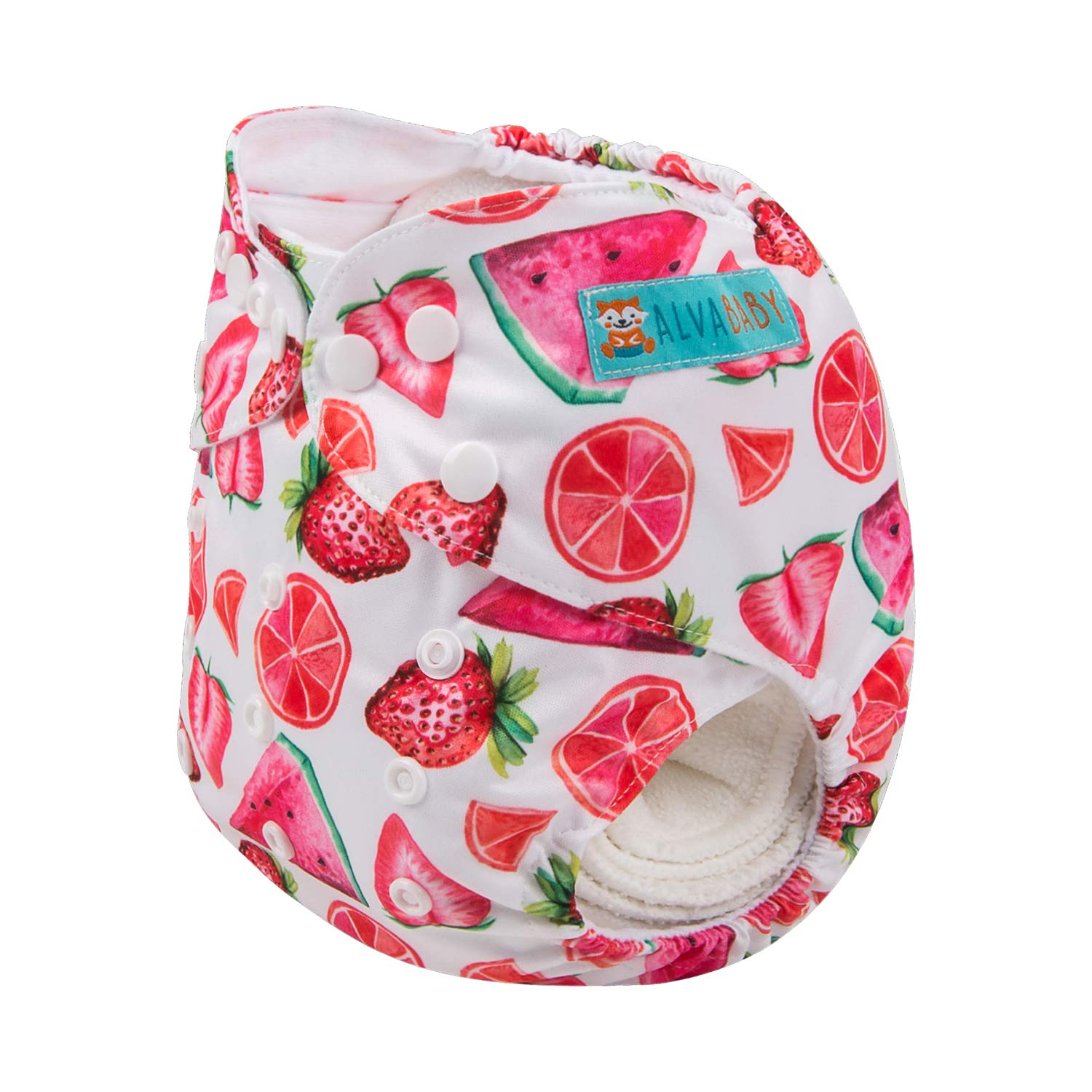 2 Inserts ALVABABY Baby New Printed Design Reuseable Washable Pocket Cloth Diaper Nappy H-YK49