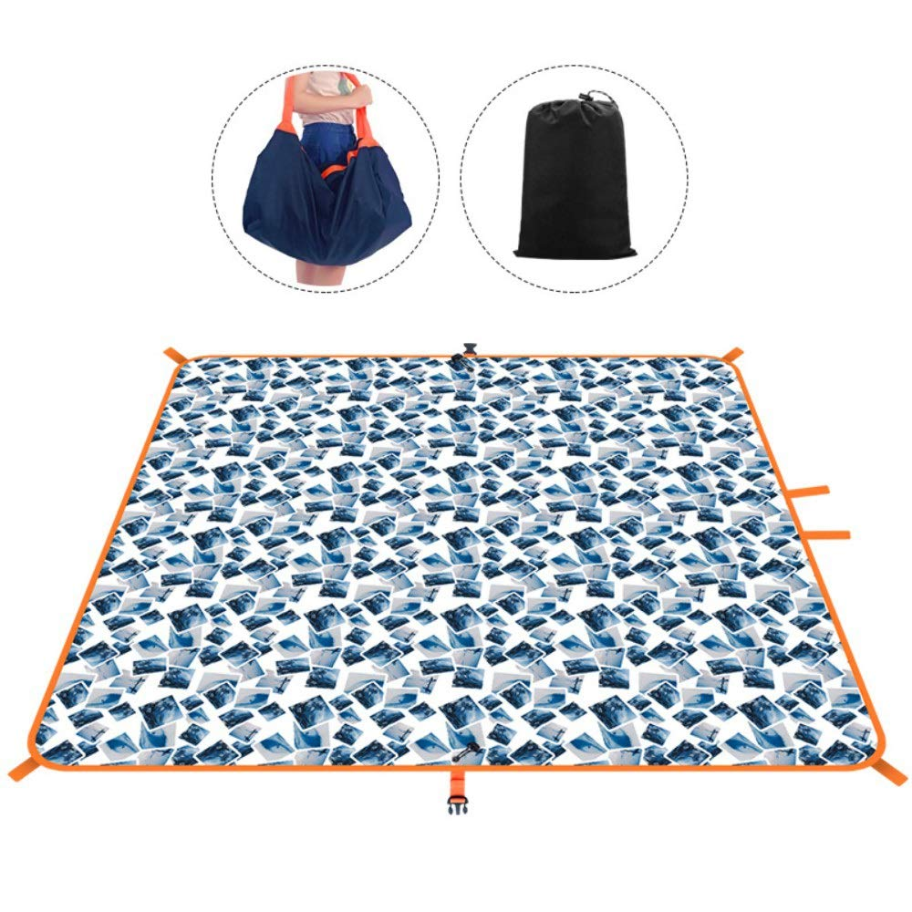 ROIY Moisture-Proof Mat Outdoor Picnic Mat Portable Multi-Function Wild Picnic Mats Travel Bag Tent Double Beach Mat Great White Shark (Color : Fashion Surfing) by ROIY