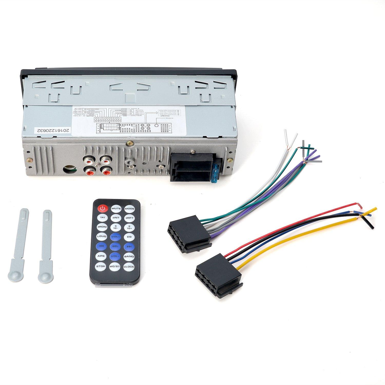 AGPTEK In-Dash KFZ Auto Stereo Bluetooth Audio Empfänger mit Mikrofo ...