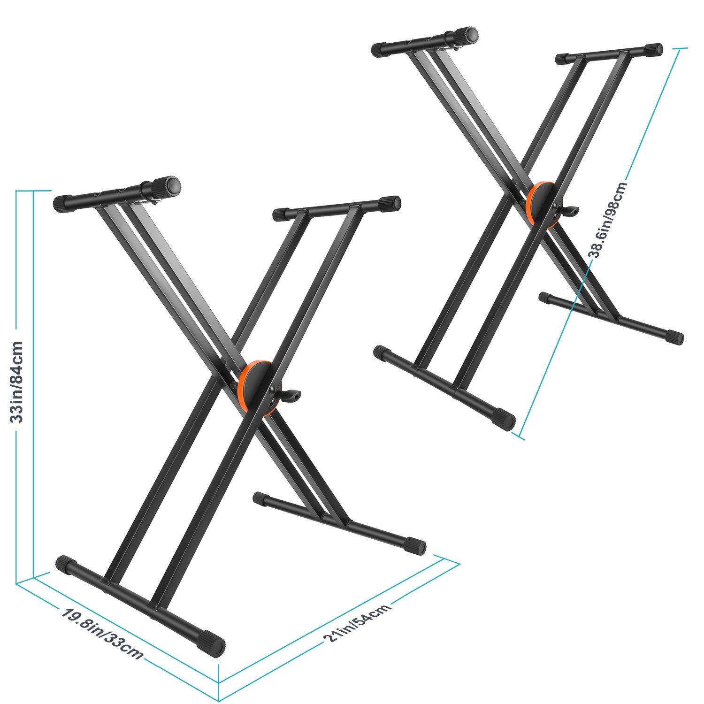 Neewer Doppelt verspannte X Rahmen Keyboardständer mit verbesserter ...