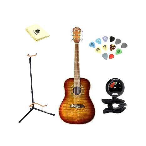 Oscar Schmidt og1fys llama amarillo Sunburst 3/4 tamaño guitarra ...